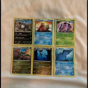 6 RARE Pokémon cards